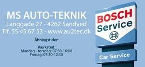 MS Auto-Teknik Bosch Car Service Sandved Telefon 55456753 eller www.Au2tec.dk